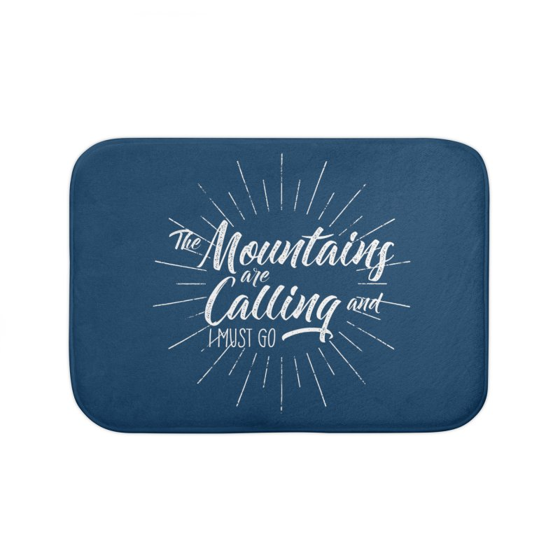 The Mountains Are Calling Home Bath Mat by The Bearly Brand
