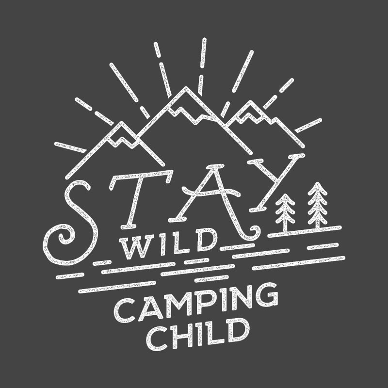 Stay Wild Camping Child Accessories Phone Case by The Bearly Brand