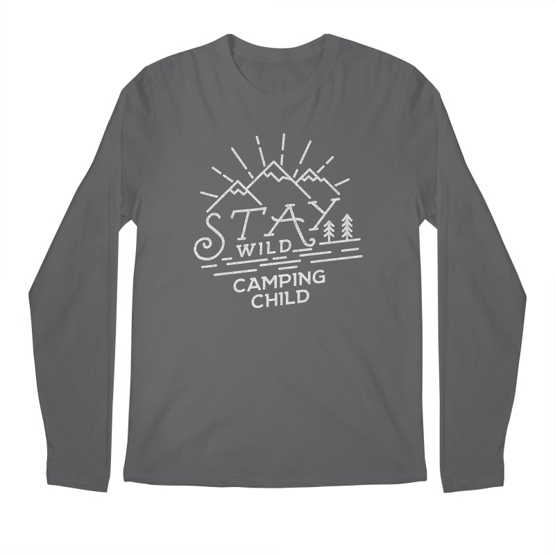 Stay Wild Camping Child Men's Regular Longsleeve T-Shirt by The Bearly Brand