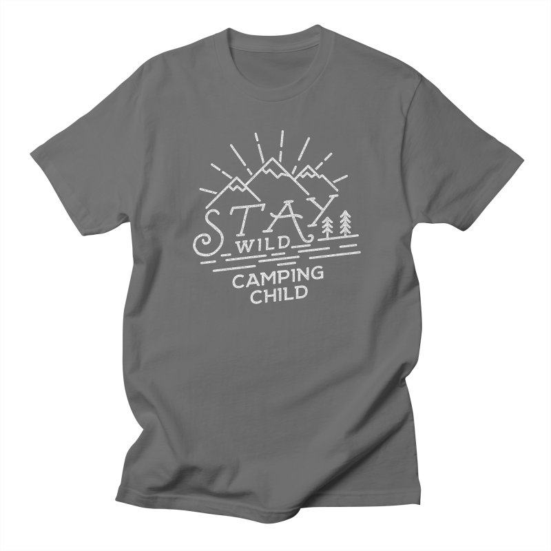 Stay Wild Camping Child Men's Regular T-Shirt by The Bearly Brand