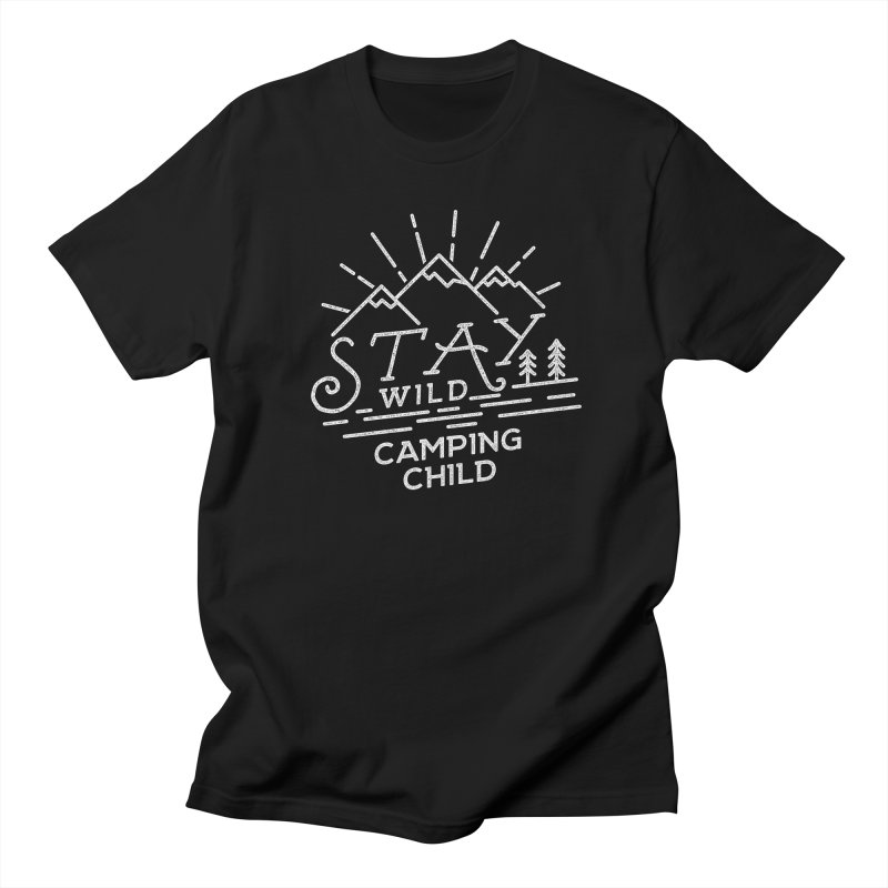 Stay Wild Camping Child in Men's T-Shirt Black by The Bearly Brand