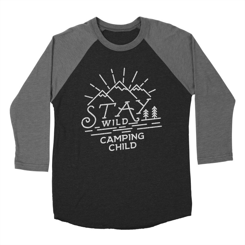 Stay Wild Camping Child Women's Baseball Triblend T-Shirt by The Bearly Brand