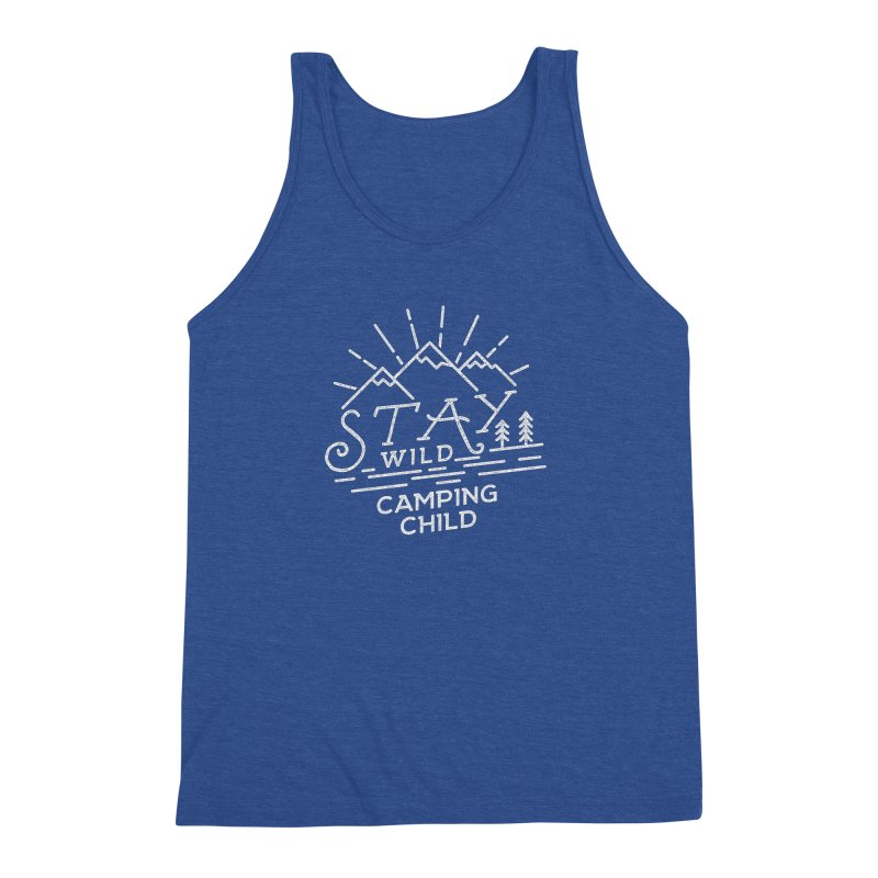 Stay Wild Camping Child Men's Tank by The Bearly Brand