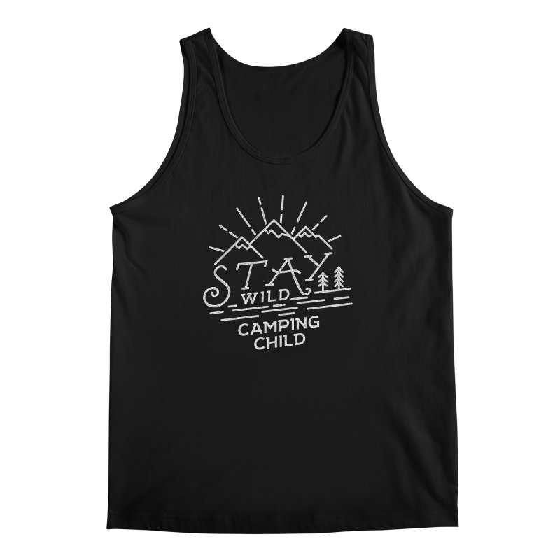 Stay Wild Camping Child Men's Regular Tank by The Bearly Brand