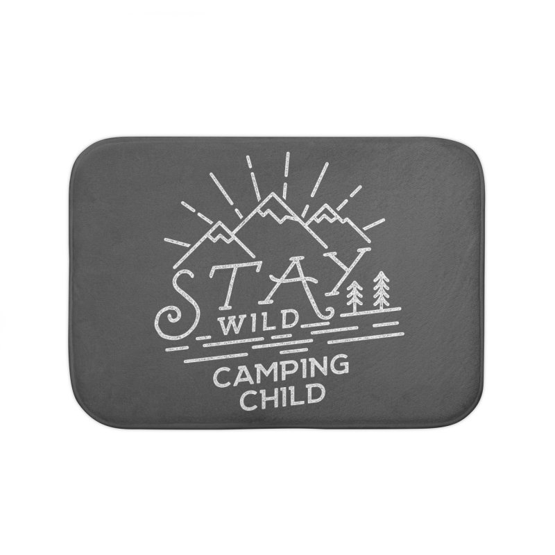 Stay Wild Camping Child Home Bath Mat by The Bearly Brand