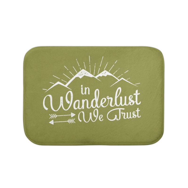 In Wanderlust We Trust Home Bath Mat by The Bearly Brand