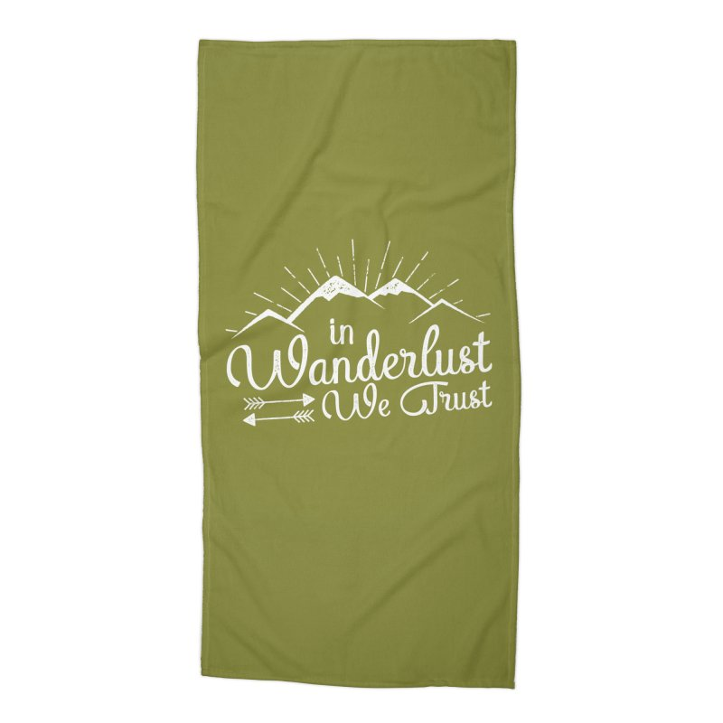 In Wanderlust We Trust Accessories Beach Towel by The Bearly Brand