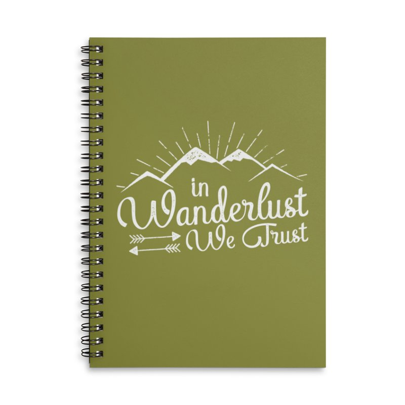 In Wanderlust We Trust Accessories Lined Spiral Notebook by The Bearly Brand