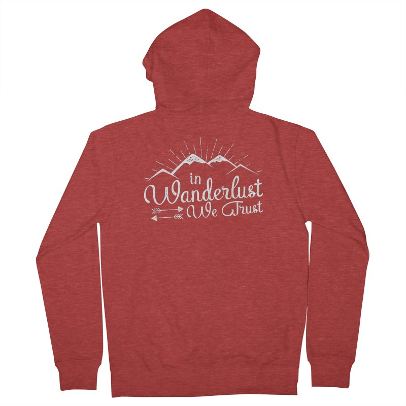 In Wanderlust We Trust Men's French Terry Zip-Up Hoody by The Bearly Brand