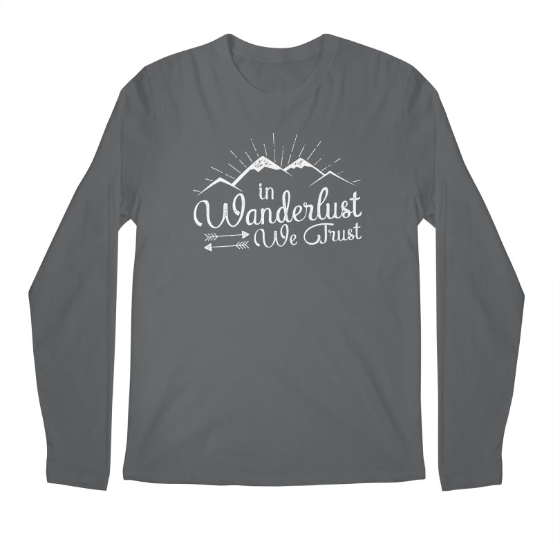 In Wanderlust We Trust Men's Regular Longsleeve T-Shirt by The Bearly Brand