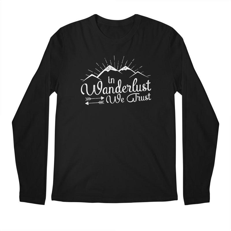 In Wanderlust We Trust Men's Regular Longsleeve T-Shirt by The Bearly Brand
