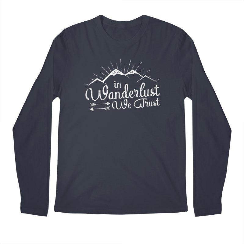 In Wanderlust We Trust Men's Longsleeve T-Shirt by The Bearly Brand