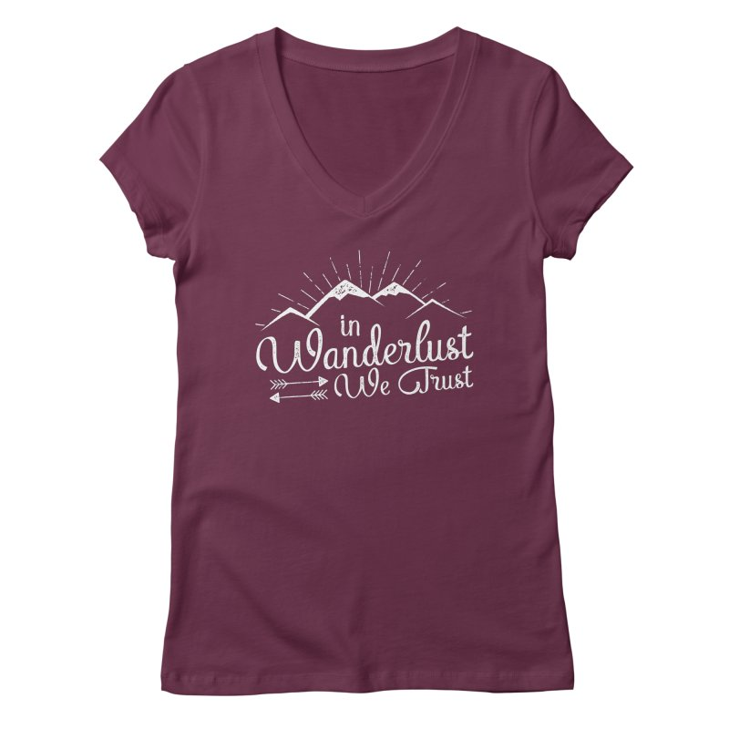 In Wanderlust We Trust Women's V-Neck by The Bearly Brand