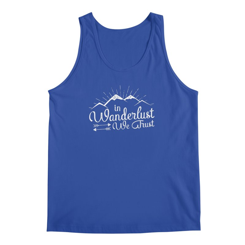 In Wanderlust We Trust Men's Regular Tank by The Bearly Brand