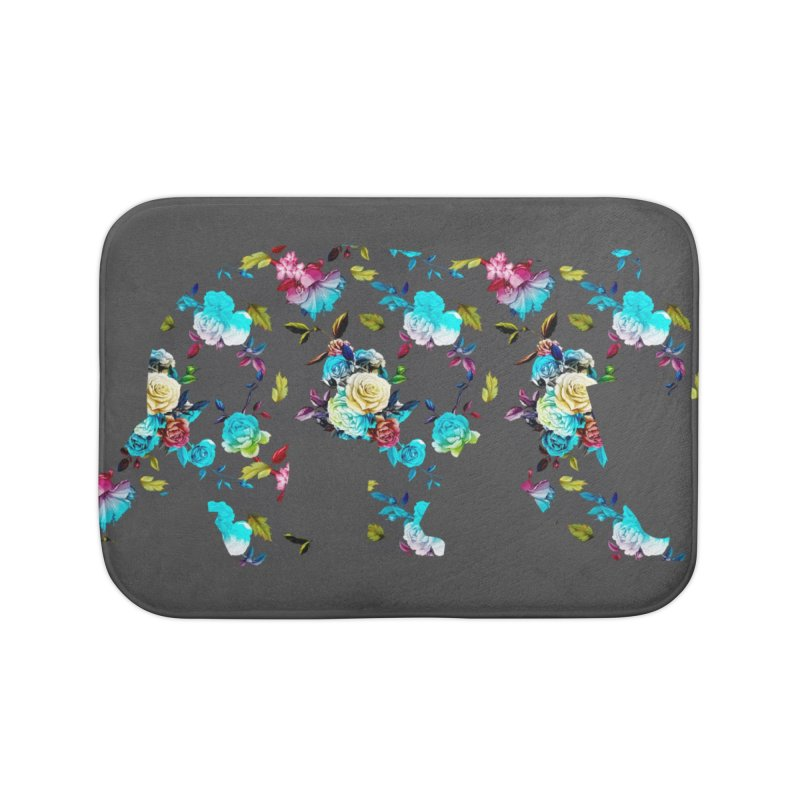 Summer Floral Bear Home Bath Mat by The Bearly Brand