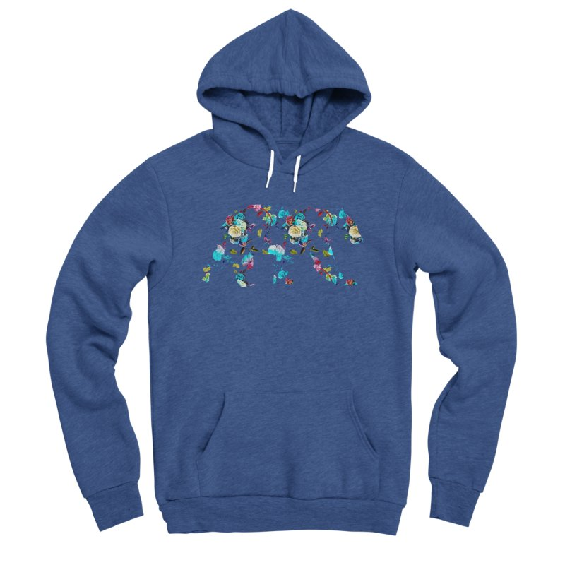 Summer Floral Bear Men's Sponge Fleece Pullover Hoody by The Bearly Brand