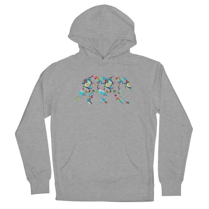 Summer Floral Bear Men's French Terry Pullover Hoody by The Bearly Brand