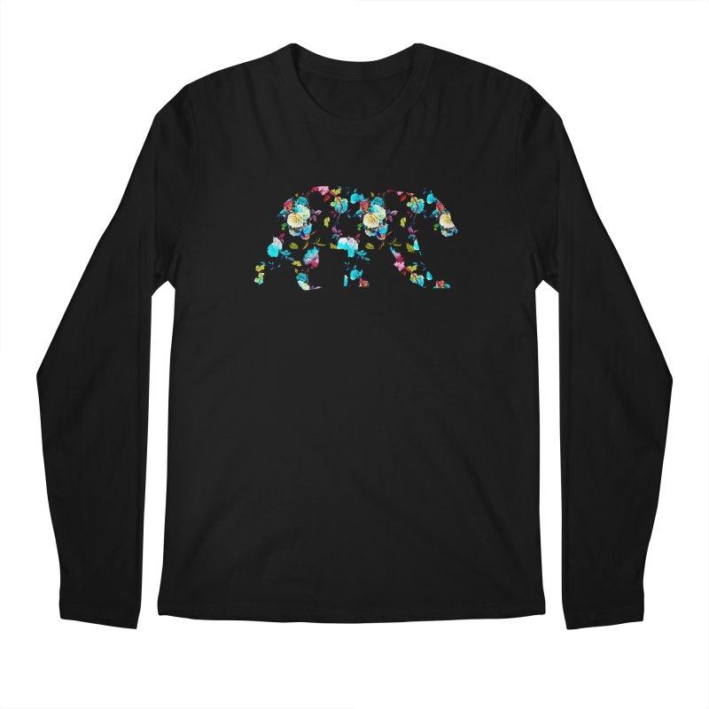 Summer Floral Bear Men's Regular Longsleeve T-Shirt by The Bearly Brand