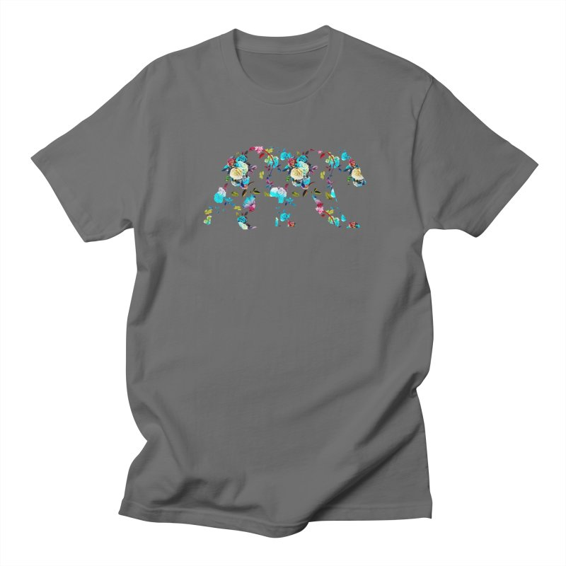 Summer Floral Bear Men's Regular T-Shirt by The Bearly Brand