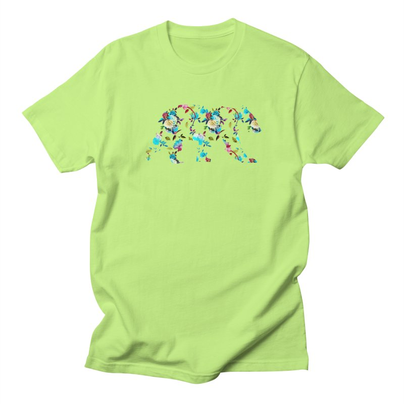 Summer Floral Bear Men's Regular T-Shirt by The Bearly Brand