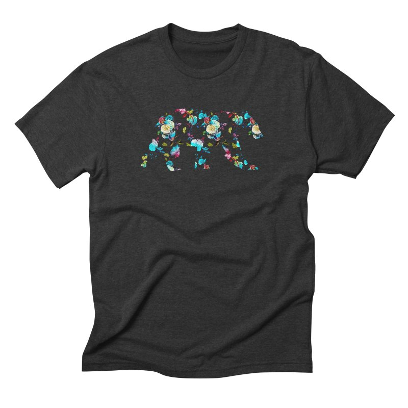 Summer Floral Bear Men's Triblend T-Shirt by The Bearly Brand