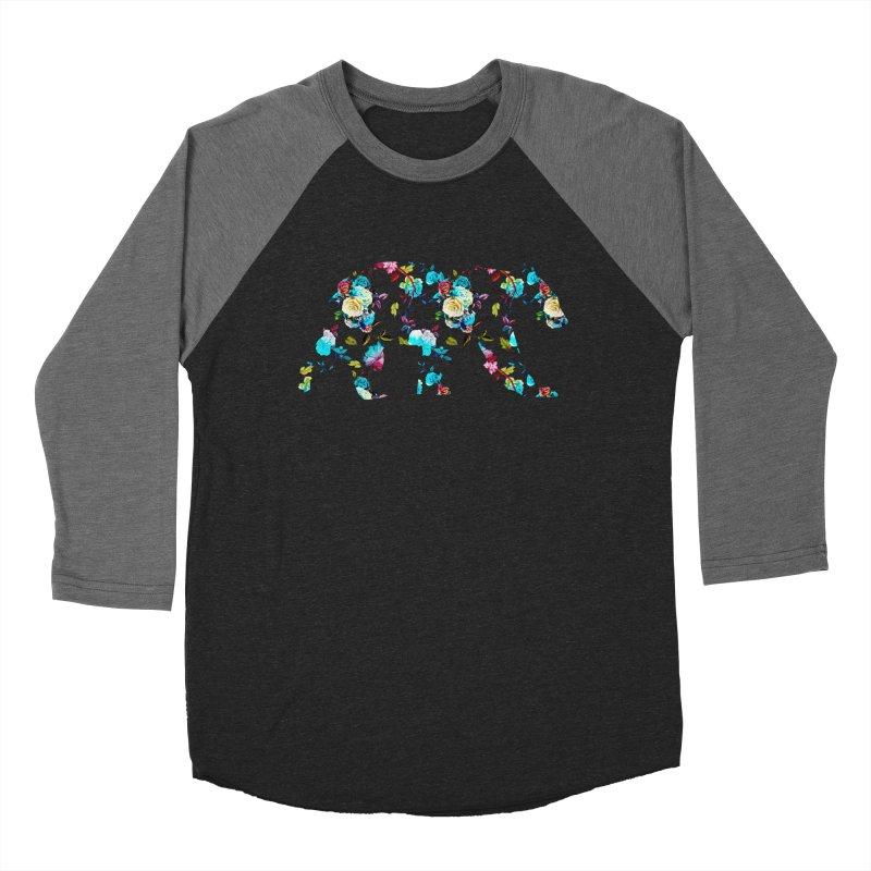 Summer Floral Bear Men's Baseball Triblend Longsleeve T-Shirt by The Bearly Brand