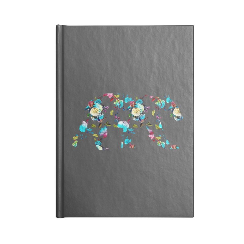 Summer Floral Bear Accessories Lined Journal Notebook by The Bearly Brand