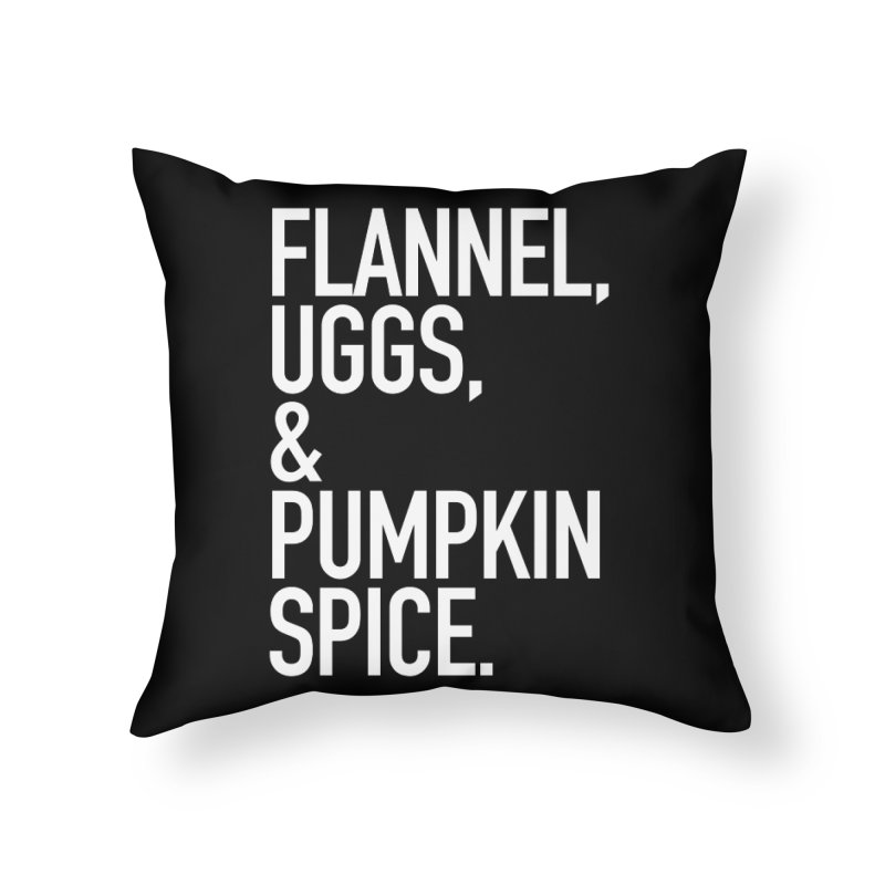 Basic White Betch Home Throw Pillow by The Bearly Brand