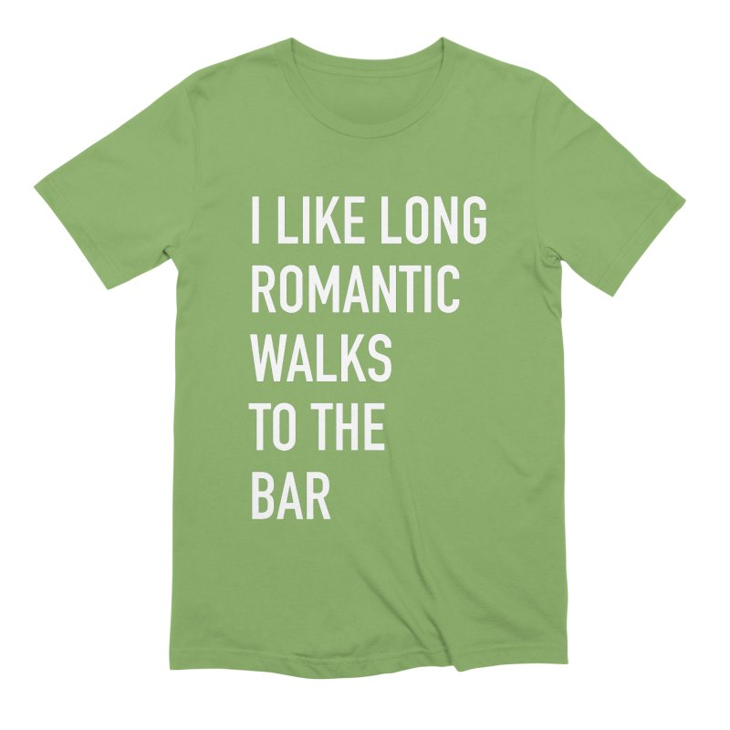 Long Romantic Walks To The Bar Men's Extra Soft T-Shirt by The Bearly Brand