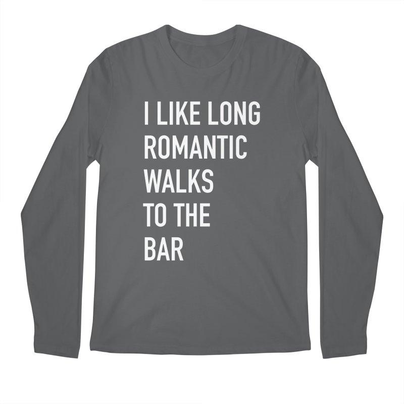 Long Romantic Walks To The Bar Men's Longsleeve T-Shirt by The Bearly Brand