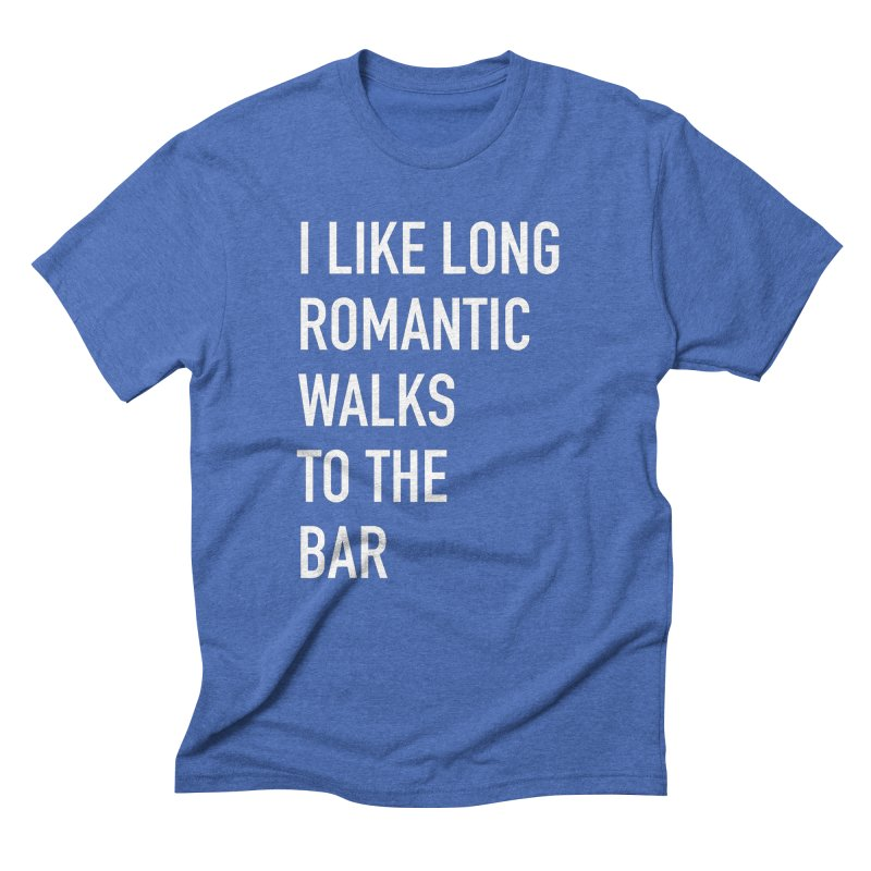 Long Romantic Walks To The Bar Men's T-Shirt by The Bearly Brand