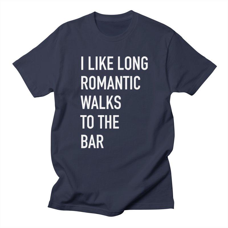 Long Romantic Walks To The Bar Men's Regular T-Shirt by The Bearly Brand