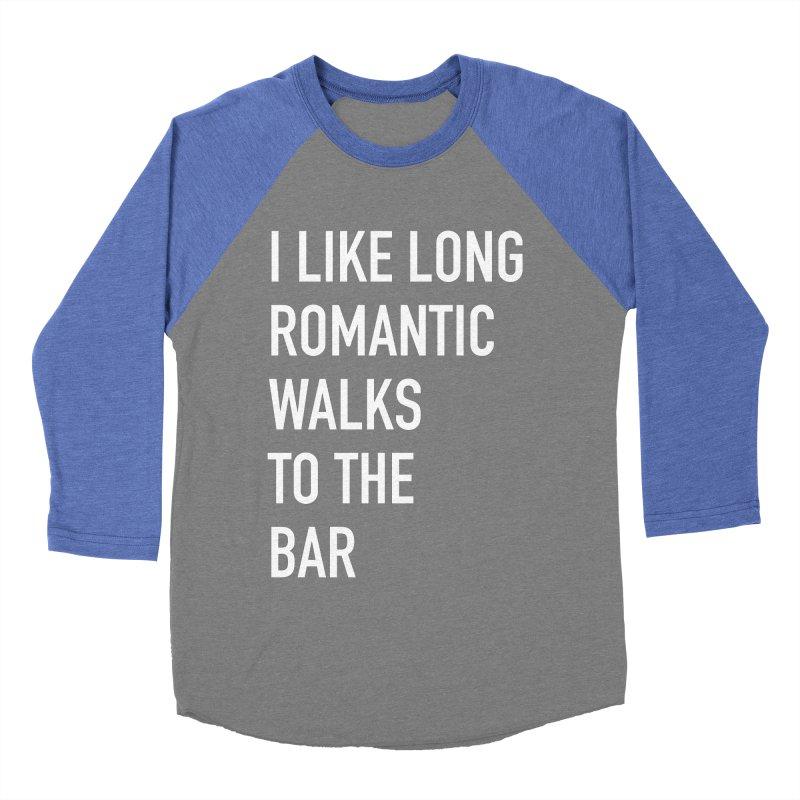 Long Romantic Walks To The Bar Men's Baseball Triblend Longsleeve T-Shirt by The Bearly Brand