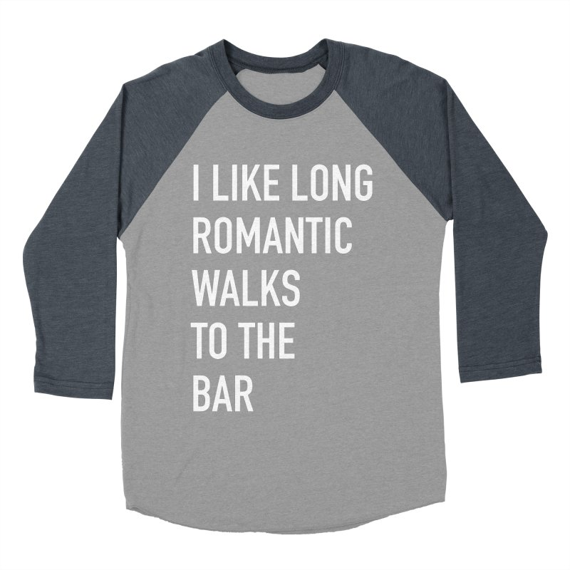 Long Romantic Walks To The Bar Men's Baseball Triblend Longsleeve T-Shirt by The Bearly Brand