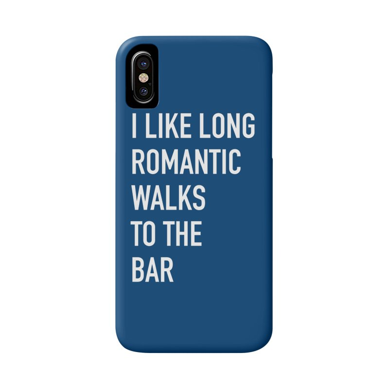 Long Romantic Walks To The Bar Accessories Phone Case by The Bearly Brand