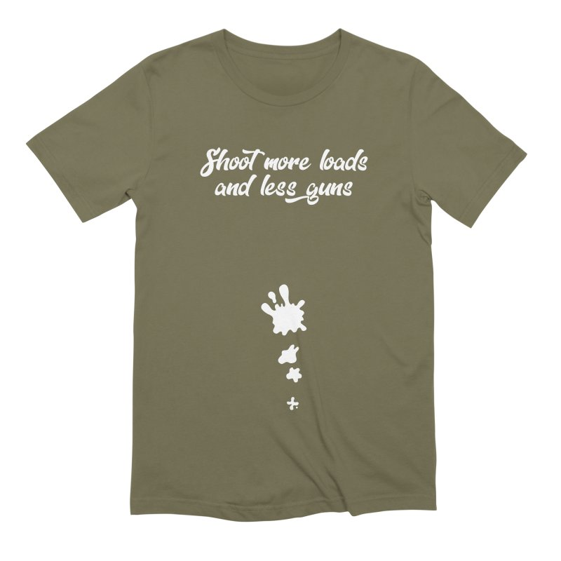 Shoot More Loads Men's Extra Soft T-Shirt by The Bearly Brand