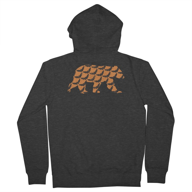 Bat Bear Men's French Terry Zip-Up Hoody by The Bearly Brand