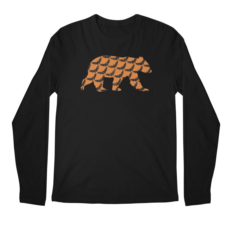 Bat Bear Men's Regular Longsleeve T-Shirt by The Bearly Brand