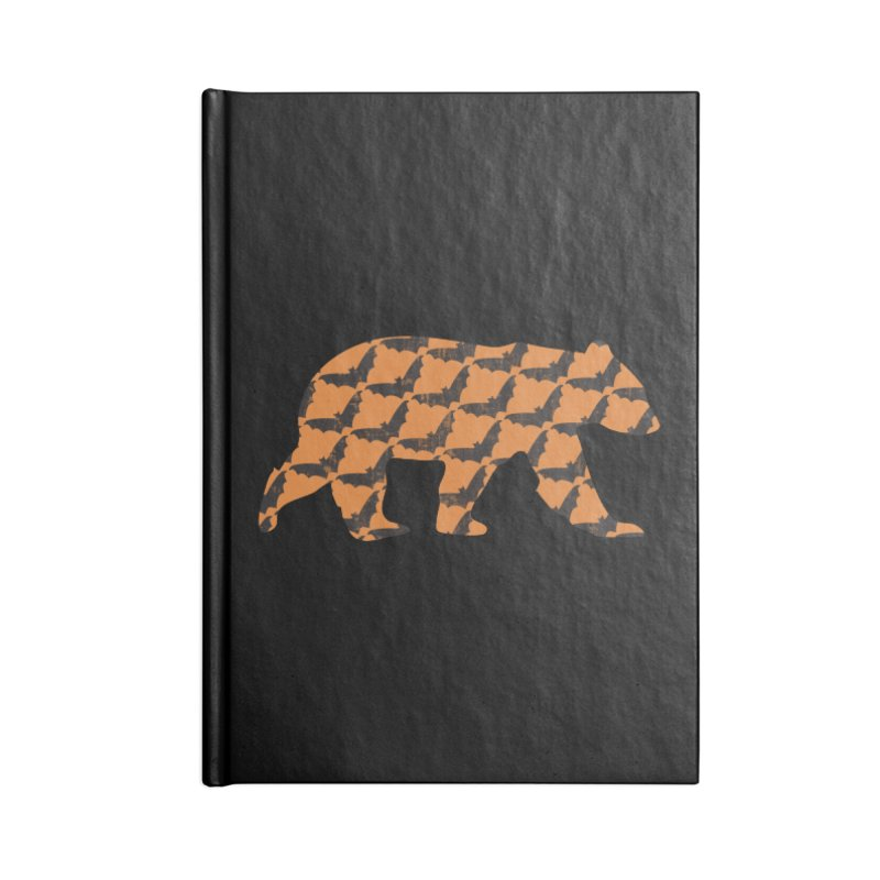 Bat Bear Accessories Lined Journal Notebook by The Bearly Brand