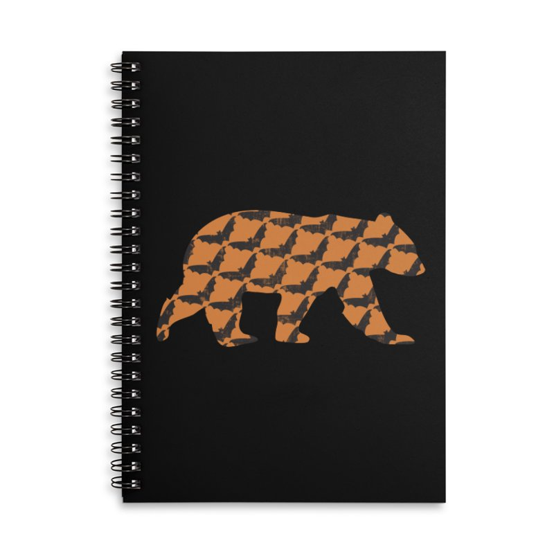 Bat Bear Accessories Lined Spiral Notebook by The Bearly Brand