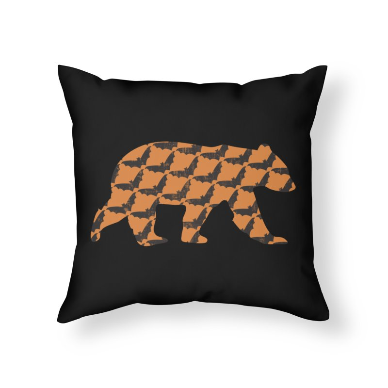 Bat Bear Home Throw Pillow by The Bearly Brand