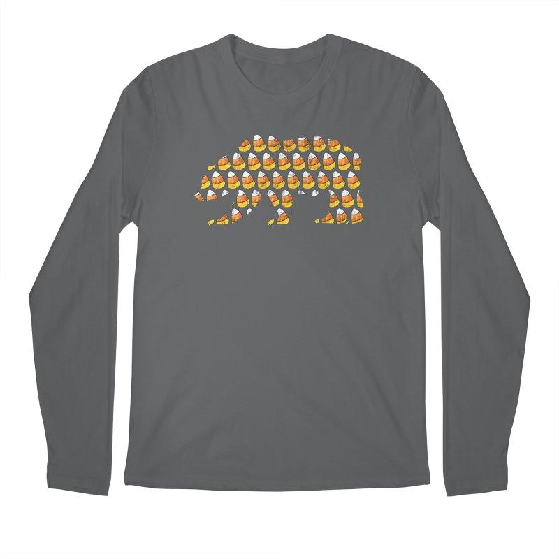 Candy Corn Halloween Bear Men's Regular Longsleeve T-Shirt by The Bearly Brand