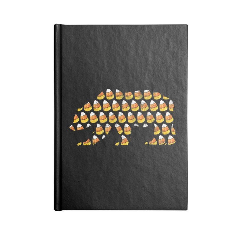Candy Corn Halloween Bear Accessories Lined Journal Notebook by The Bearly Brand
