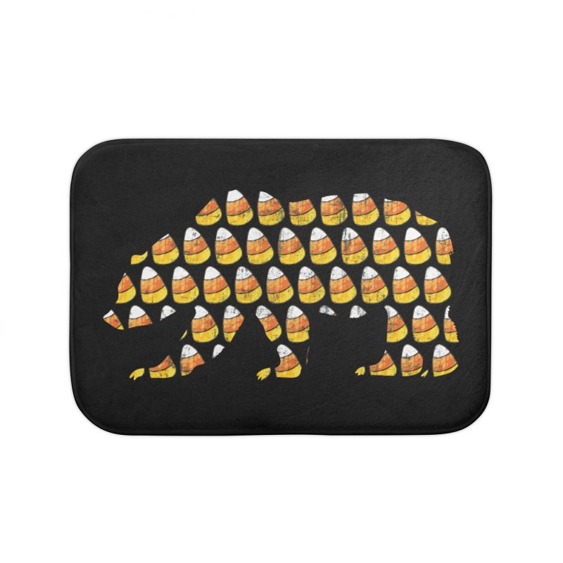 Candy Corn Halloween Bear Home Bath Mat by The Bearly Brand