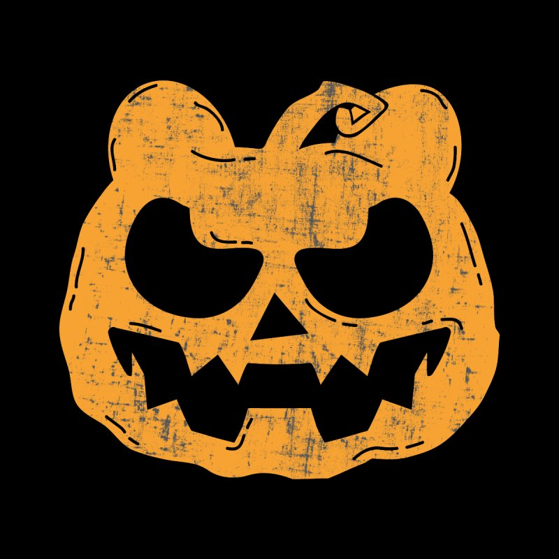 Pumpkin Bear Jack O'Lantern Head by The Bearly Brand