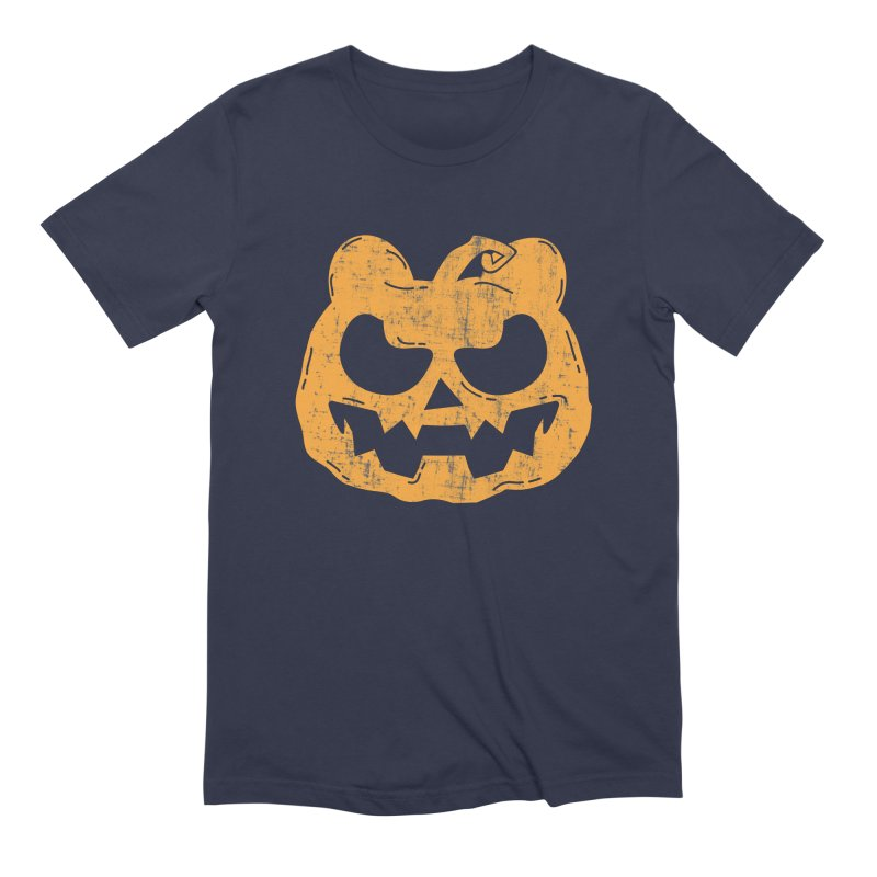Pumpkin Bear Jack O'Lantern Head Men's Extra Soft T-Shirt by The Bearly Brand
