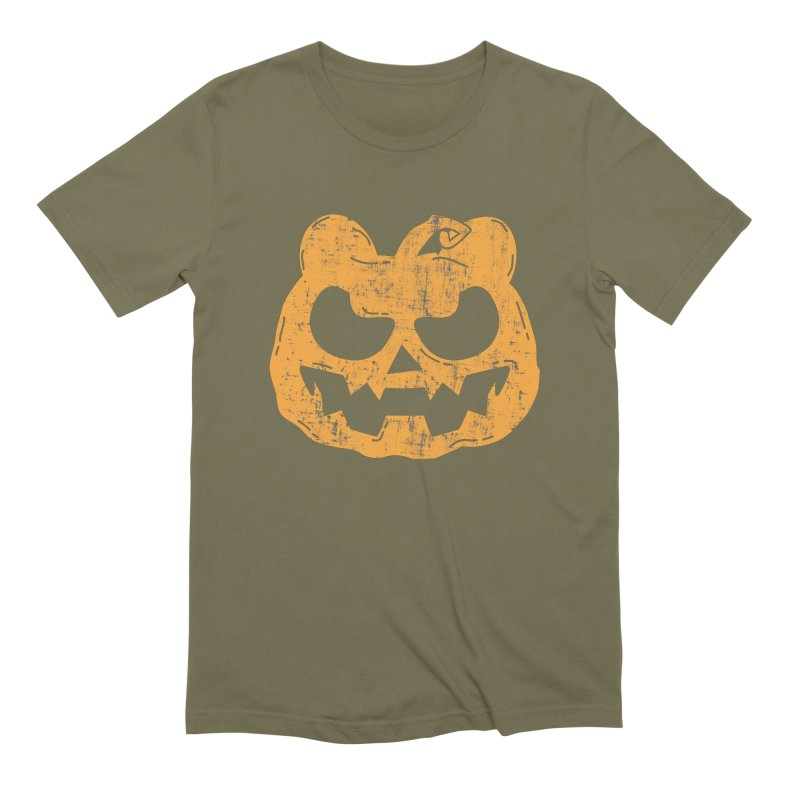 Pumpkin Bear Jack O'Lantern Head Men's Extra Soft T-Shirt by The Bearly Brand