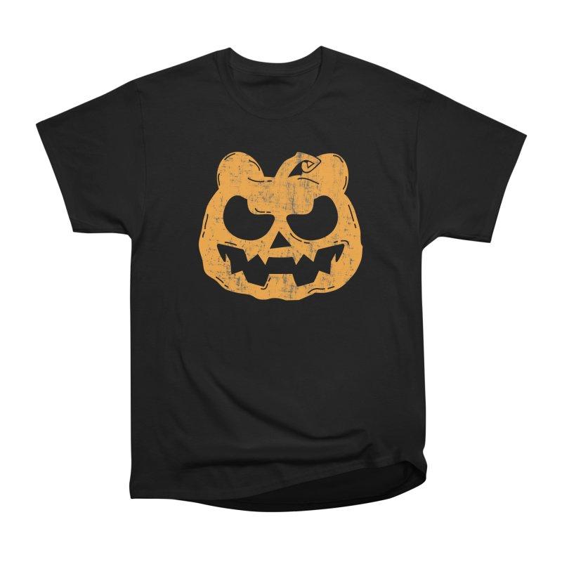 Pumpkin Bear Jack O'Lantern Head Men's T-Shirt by The Bearly Brand