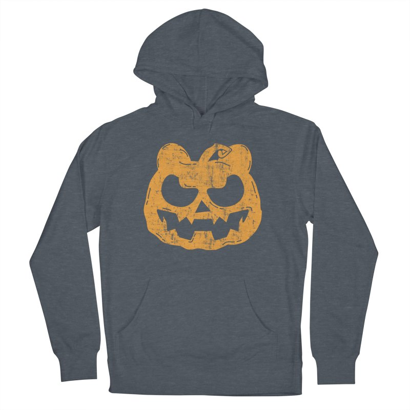 Pumpkin Bear Jack O'Lantern Head Men's French Terry Pullover Hoody by The Bearly Brand