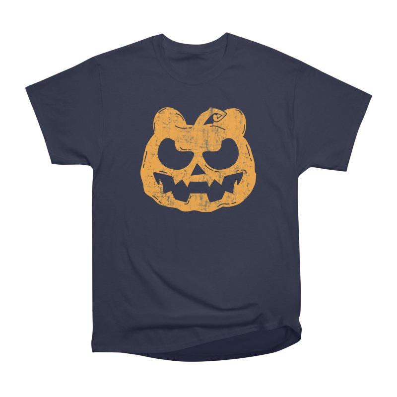 Pumpkin Bear Jack O'Lantern Head Men's Heavyweight T-Shirt by The Bearly Brand